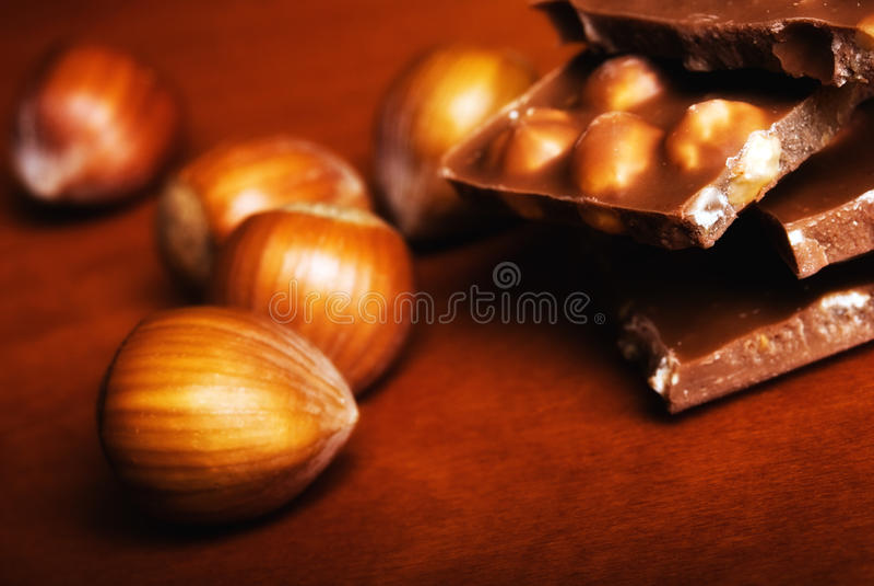 φουντούκια σοκολάτας στοκ φωτογραφία με δικαίωμα ελεύθερης χρήσης