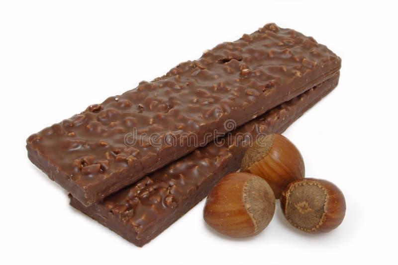 φουντούκια σοκολάτας στοκ εικόνες με δικαίωμα ελεύθερης χρήσης