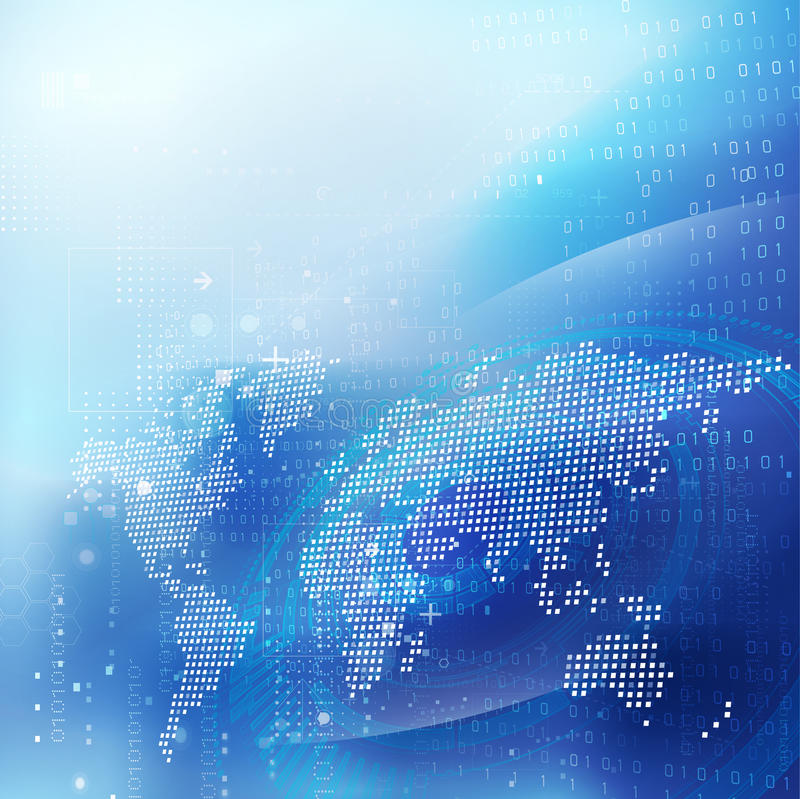 Φουτουριστικές υπόβαθρο, διάνυσμα & απεικόνιση ροής κινήσεων έννοιας επικοινωνίας και τεχνολογίας παγκόσμιων δικτύων διανυσματική απεικόνιση