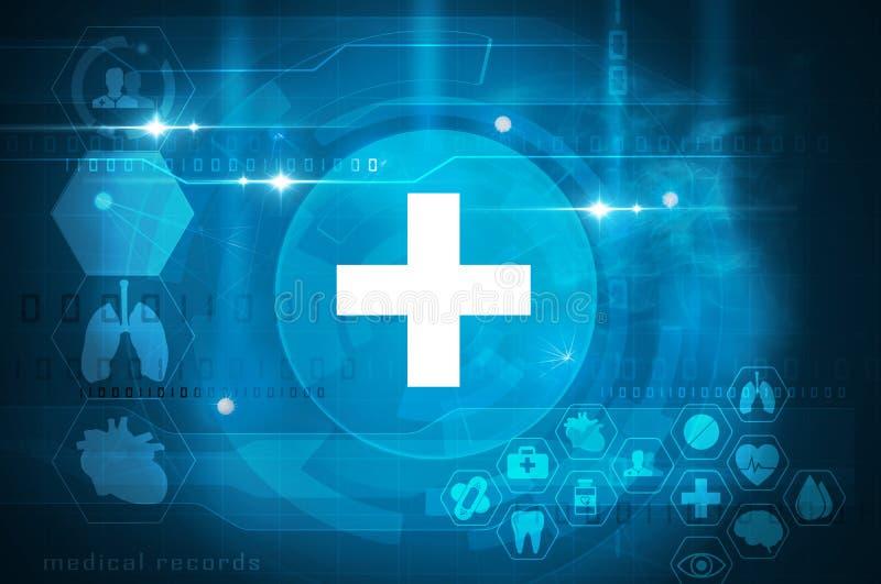 Φουτουριστική διεπαφή υγειονομικής περίθαλψης ελεύθερη απεικόνιση δικαιώματος