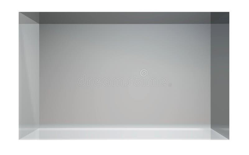 Φουτουριστική κύβων στάση επίδειξης κρυστάλλου λαϊκή ελεύθερη απεικόνιση δικαιώματος