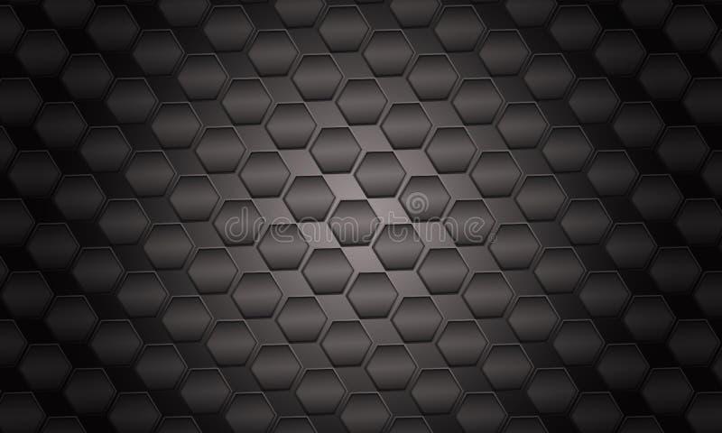Φουτουριστική μαύρη ανασκόπηση απεικόνιση αποθεμάτων