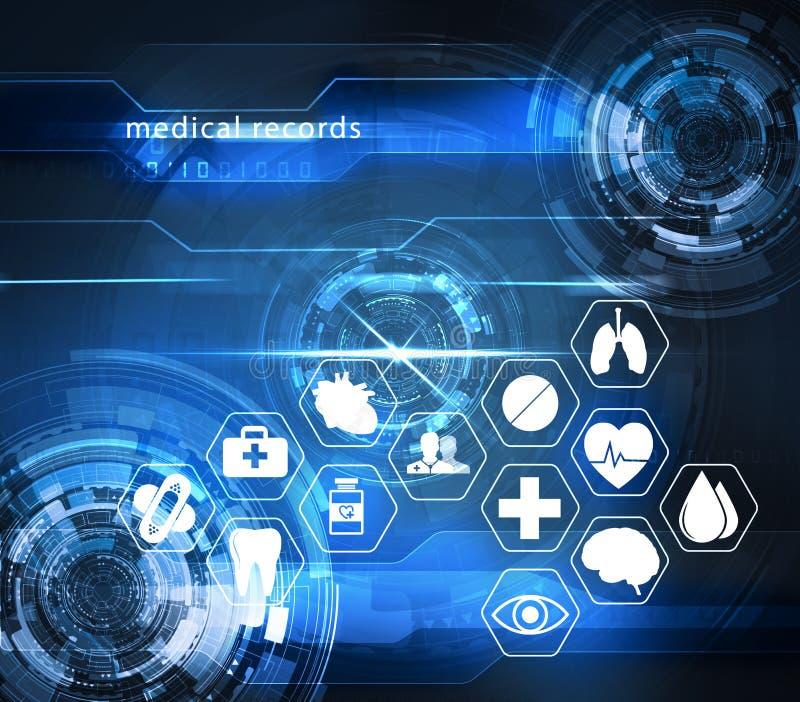 Φουτουριστική τεχνολογία υγειονομικής περίθαλψης ελεύθερη απεικόνιση δικαιώματος