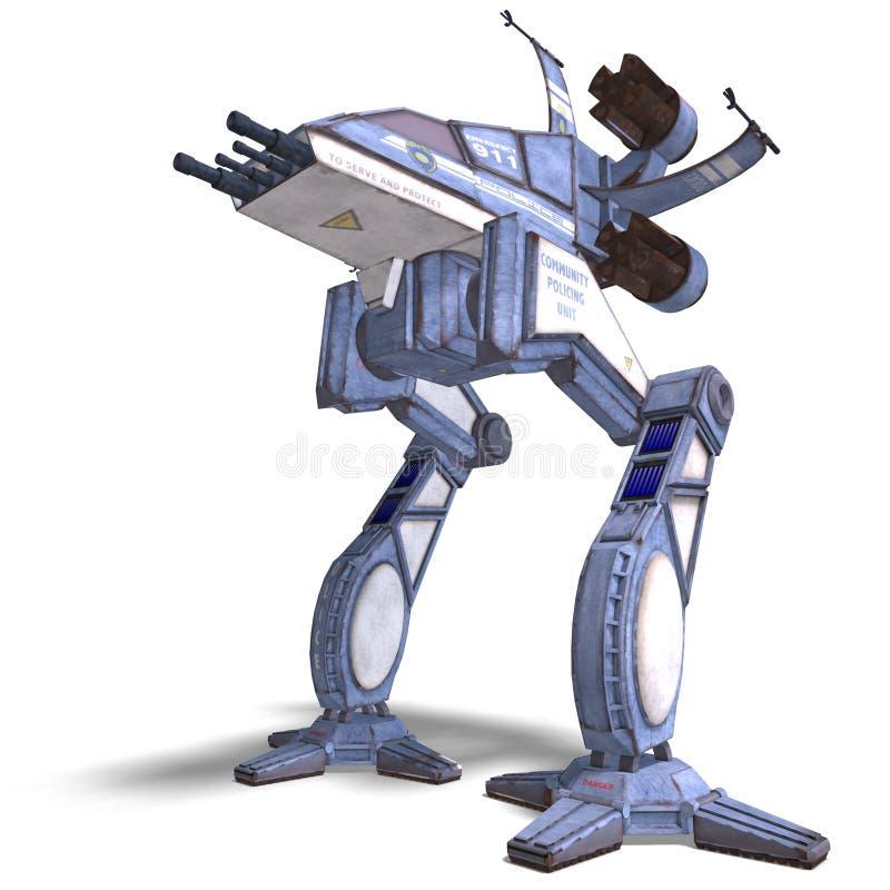 φουτουριστικός spaceship scifi ρομπ ελεύθερη απεικόνιση δικαιώματος