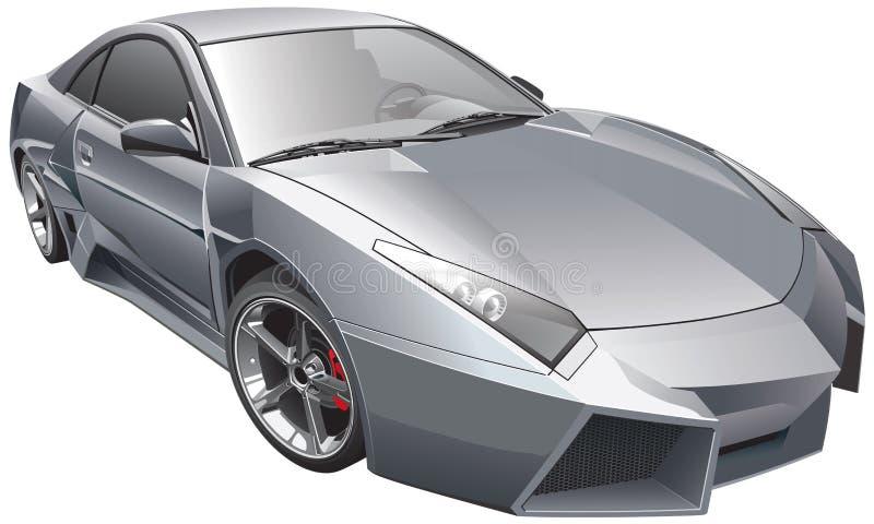 Φουτουριστικό αυτοκίνητο διανυσματική απεικόνιση