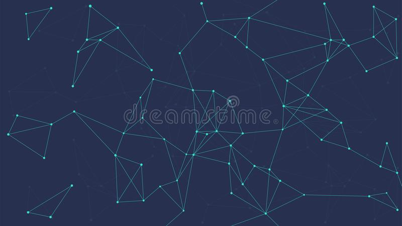 Φουτουριστικό αφηρημένο διανυσματικό έμβλημα τεχνολογίας Blockchain διανυσματική απεικόνιση