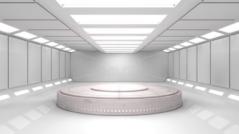 Φουτουριστικό εσωτερικό στοκ εικόνες με δικαίωμα ελεύθερης χρήσης