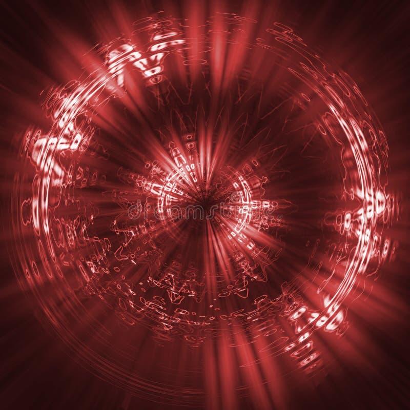 φουτουριστικό κόκκινο ανασκόπησης διανυσματική απεικόνιση