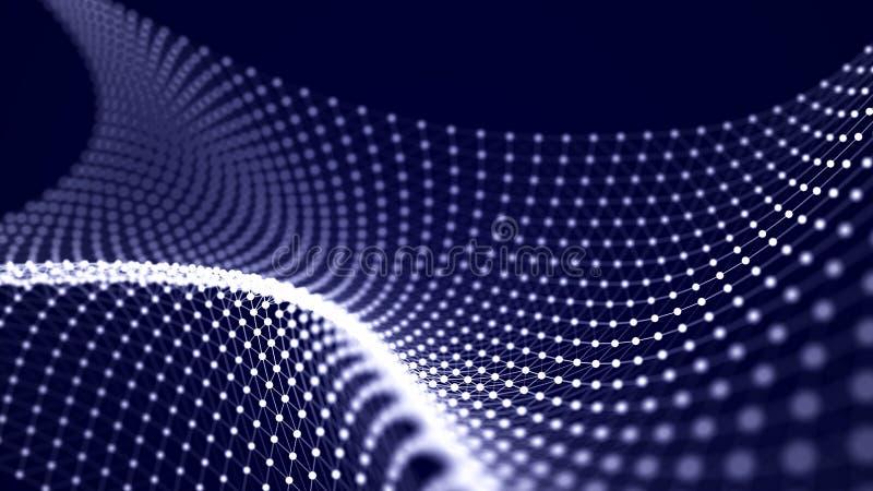 Φουτουριστικό κύμα σημείου Αφηρημένο υπόβαθρο με ένα δυναμικό κύμα r απεικόνιση αποθεμάτων
