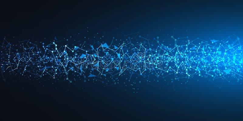 Φουτουριστικό μπλε υπόβαθρο τεχνολογίας – διάνυσμα ελεύθερη απεικόνιση δικαιώματος