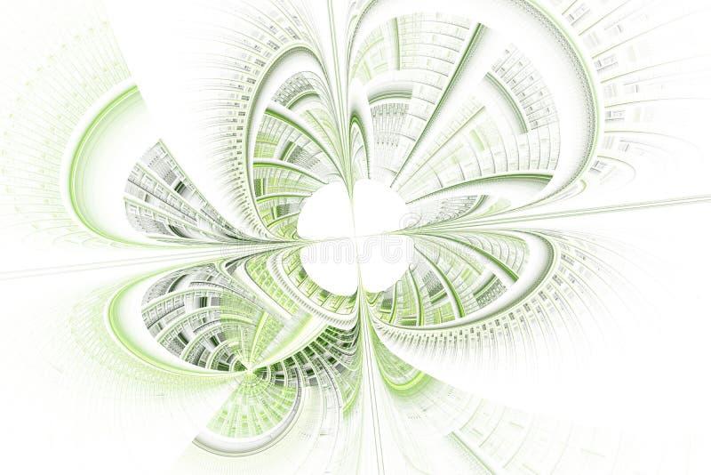 Φουτουριστικό υπόβαθρο με την οπτική παραίσθηση απεικόνιση αποθεμάτων