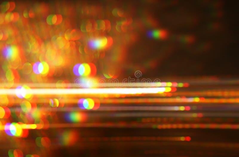 Φουτουριστικό υπόβαθρο του αναδρομικού ύφους της δεκαετίας του '80 Ψηφιακή ή επιφάνεια Cyber φω'τα νέου και γεωμετρικό σχέδιο, δυ στοκ φωτογραφία