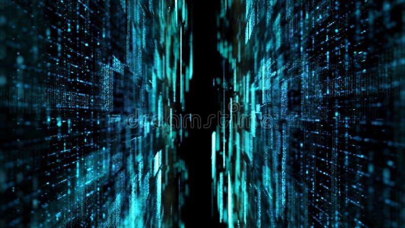 Φουτουριστικό ψηφιακό αφηρημένο πλέγμα μορίων μητρών διανυσματική απεικόνιση