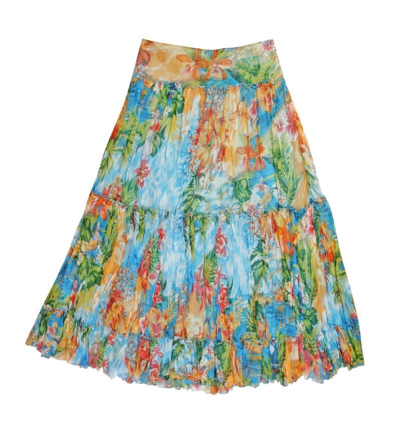 φούστα μεταξιού λουλο&upsil στοκ εικόνα