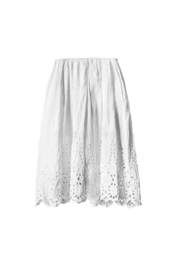 Φούστα που απομονώνεται άσπρη στοκ εικόνες