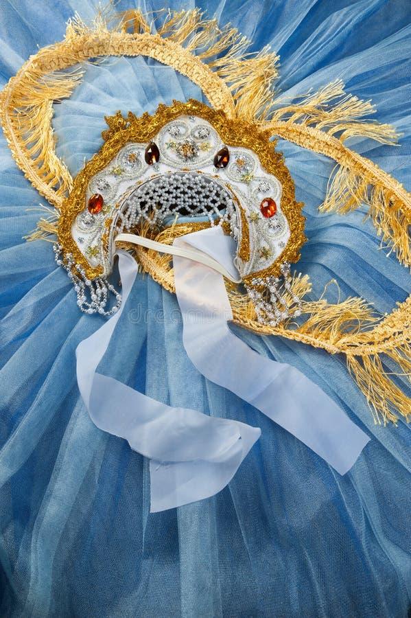 Φούστα χορού και kokoshnik στοκ φωτογραφία με δικαίωμα ελεύθερης χρήσης
