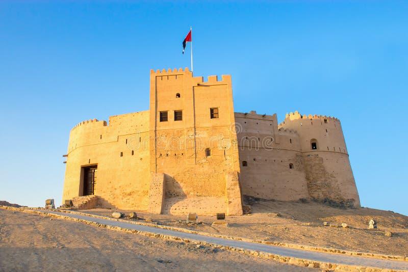 Φούτζερα, Ε.Α.Ε. - το Δεκέμβριο του 2014: Άποψη στο παλαιό κομμάτι Al οχυρών του Φούτζερα στοκ φωτογραφία με δικαίωμα ελεύθερης χρήσης