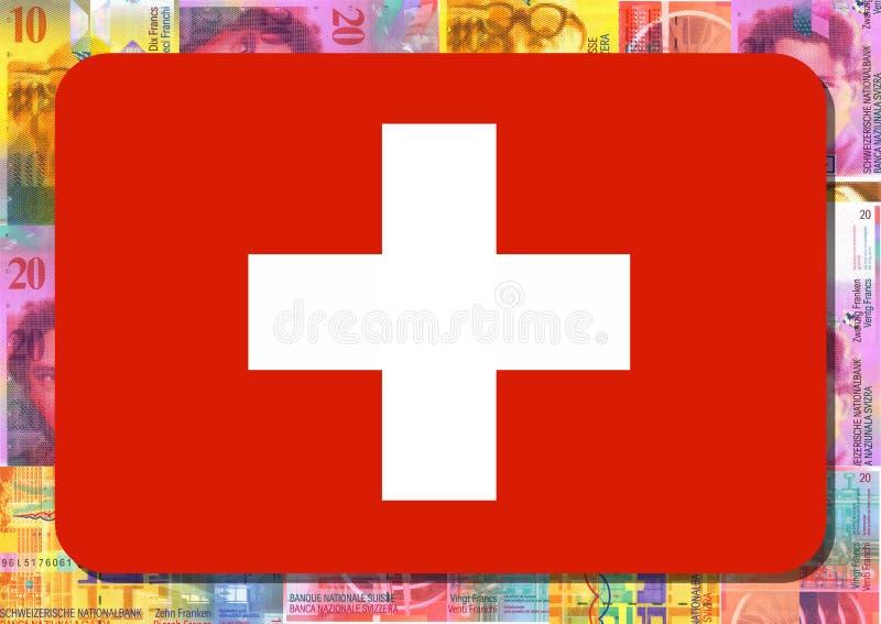 φράγκα Ελβετός σημαιών ελεύθερη απεικόνιση δικαιώματος