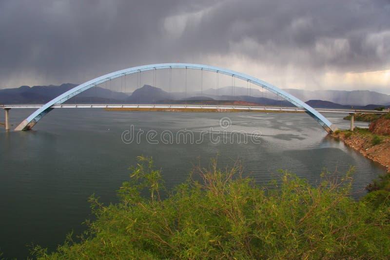φράγμα γεφυρών rosvelt στοκ εικόνα με δικαίωμα ελεύθερης χρήσης