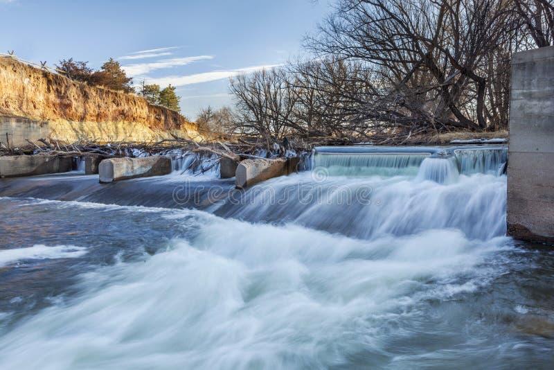 Φράγμα παρεκτροπής ποταμών στο Κολοράντο στοκ φωτογραφίες με δικαίωμα ελεύθερης χρήσης