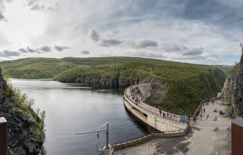 Φράγμα της Alta σε Sautso Finnmark Νορβηγία στοκ φωτογραφίες με δικαίωμα ελεύθερης χρήσης