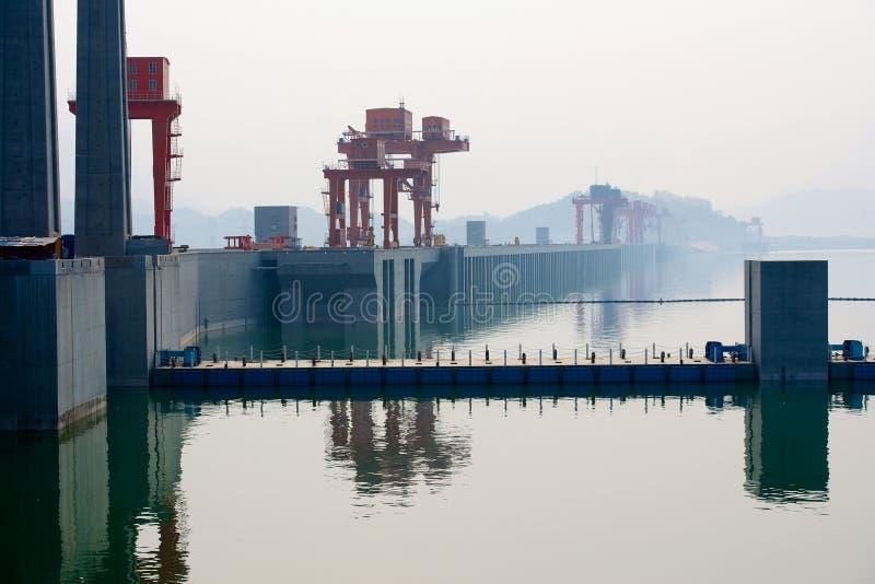 Φράγμα τριών φαραγγιών στην Κίνα στοκ εικόνες