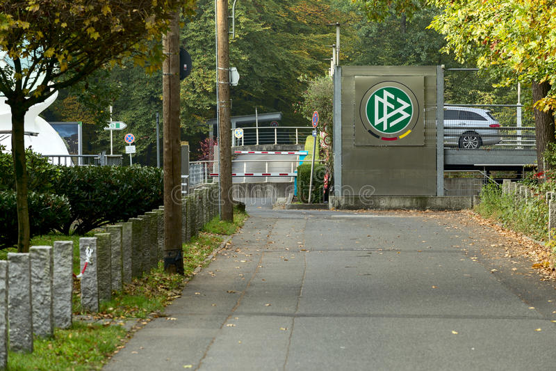 Φράγμα Fussball Deutscher στοκ φωτογραφία με δικαίωμα ελεύθερης χρήσης