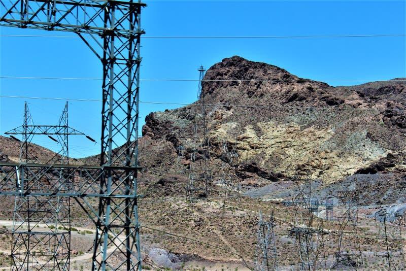 Φράγμα Hoover, γραφείο της αποκατάστασης, κομητεία του Clark, Νεβάδα/κομητεία Αριζόνα, Ηνωμένες Πολιτείες Mohave στοκ εικόνες με δικαίωμα ελεύθερης χρήσης