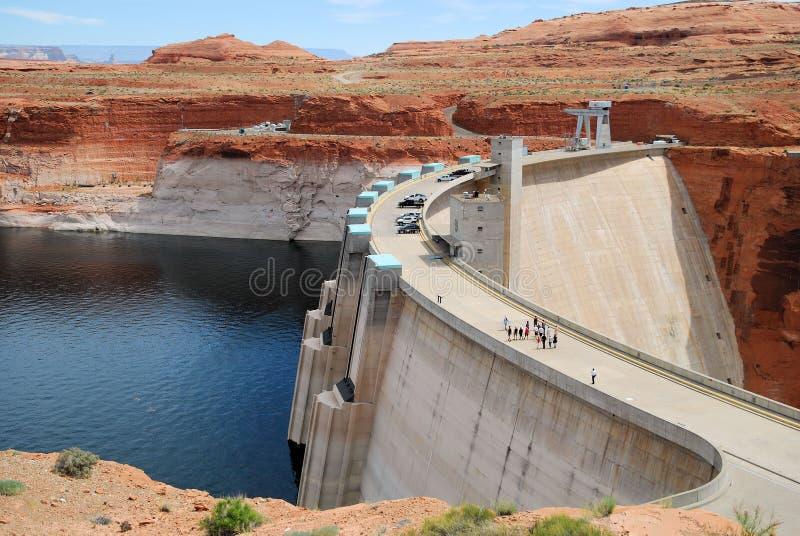 Φράγμα Powell λιμνών στοκ εικόνες