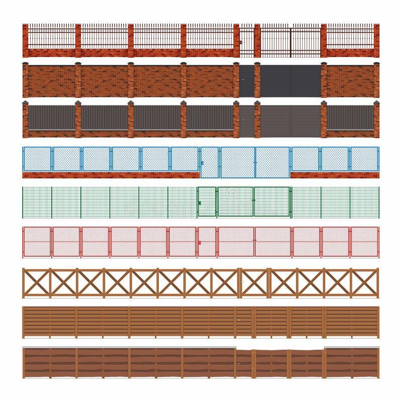 Φράκτες και πύλες διανυσματική απεικόνιση
