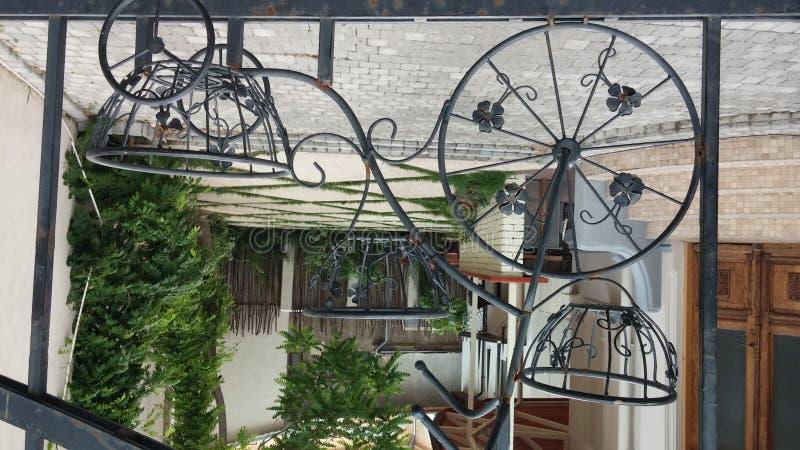 Φράκτης σιδήρου - ποδήλατο στοκ φωτογραφία