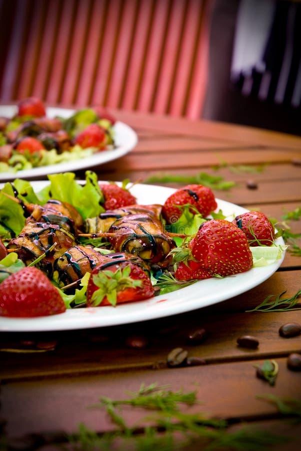 φράουλα επιδορπίων στοκ εικόνες