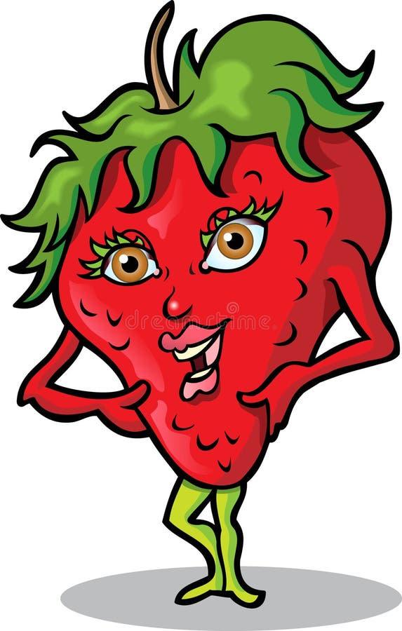 φράουλα κας διανυσματική απεικόνιση