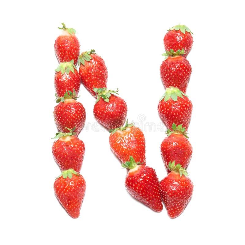 φράουλα υγείας αλφάβητ&omicr στοκ εικόνα