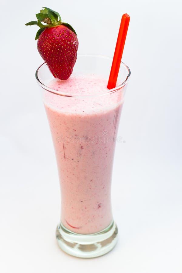 Φράουλα milkshake στοκ εικόνες