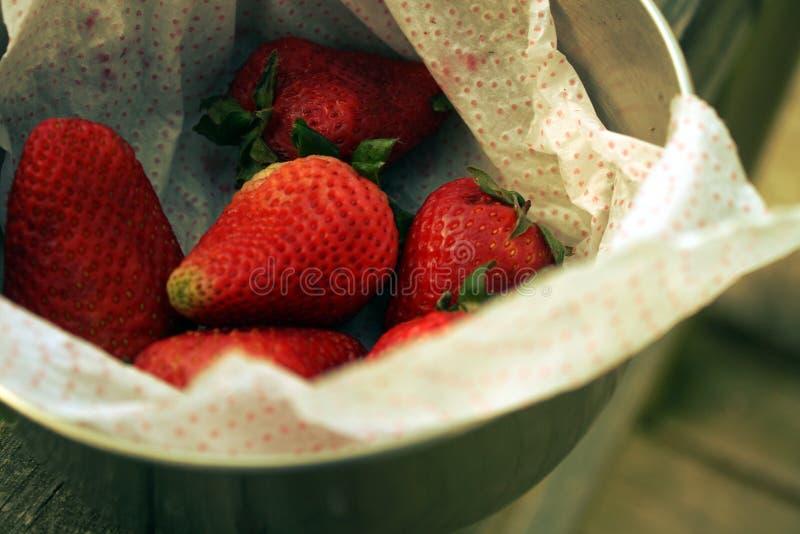 Φράουλα ` s σε ένα κύπελλο στην κεκλιμένη ράμπα στοκ φωτογραφίες με δικαίωμα ελεύθερης χρήσης