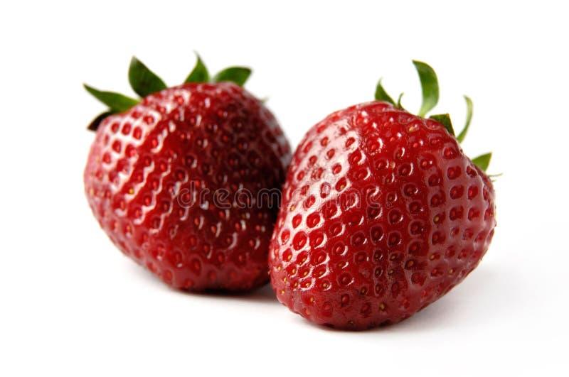 φράουλες δύο στοκ φωτογραφία