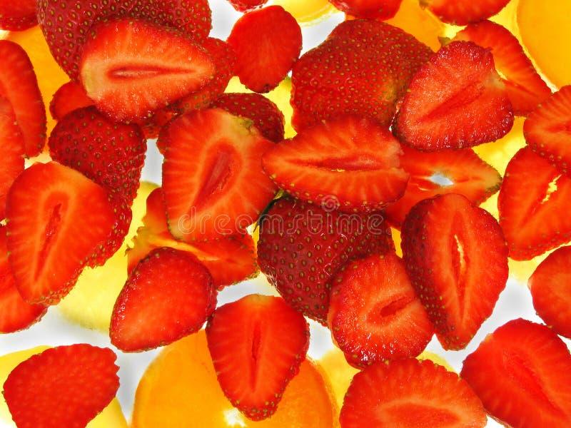 φράουλες πάγου στοκ φωτογραφία με δικαίωμα ελεύθερης χρήσης