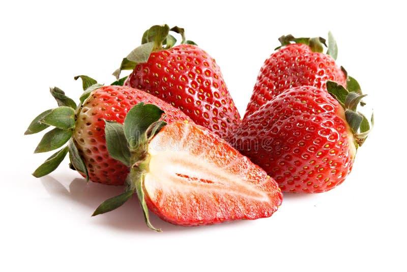 Φράουλες που απομονώνονται λίγες στοκ εικόνα