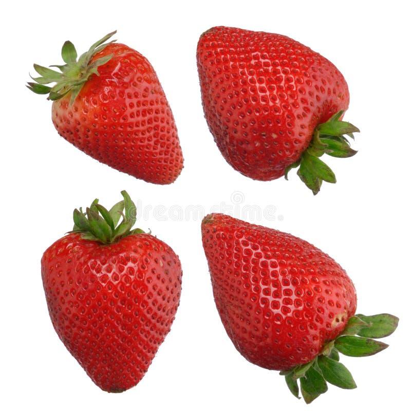 Φράουλες που απομονώνονται στο λευκό στοκ φωτογραφία με δικαίωμα ελεύθερης χρήσης