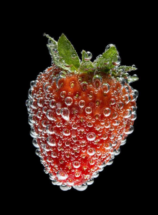 φράουλα αεροφυσαλίδων στοκ εικόνα