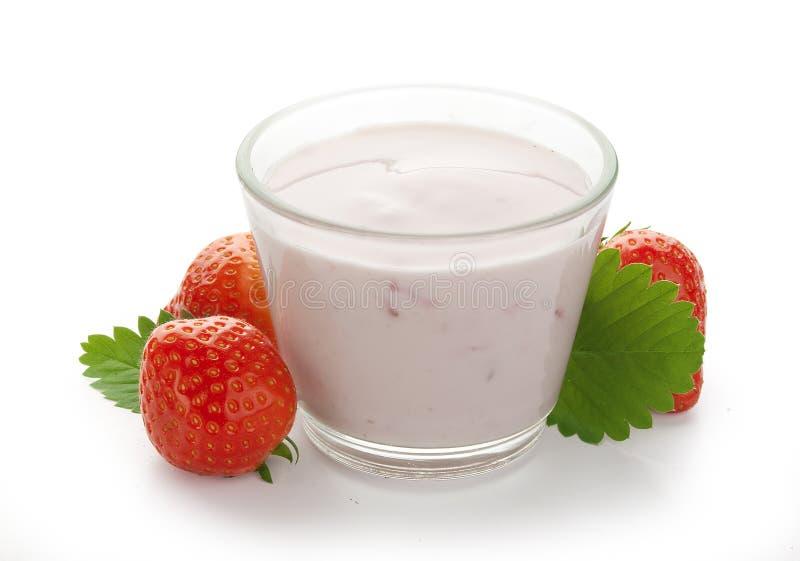 Φράουλα & γιαούρτι στοκ φωτογραφία