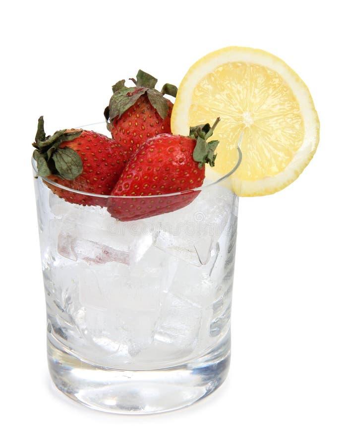 Φράουλες στον πάγο στοκ φωτογραφία με δικαίωμα ελεύθερης χρήσης
