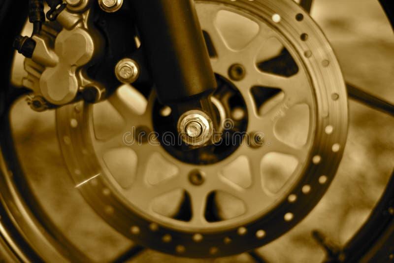 Φρένο δίσκων μιας φωτογραφίας αντικειμένου ποδηλάτων μηχανών στοκ φωτογραφίες