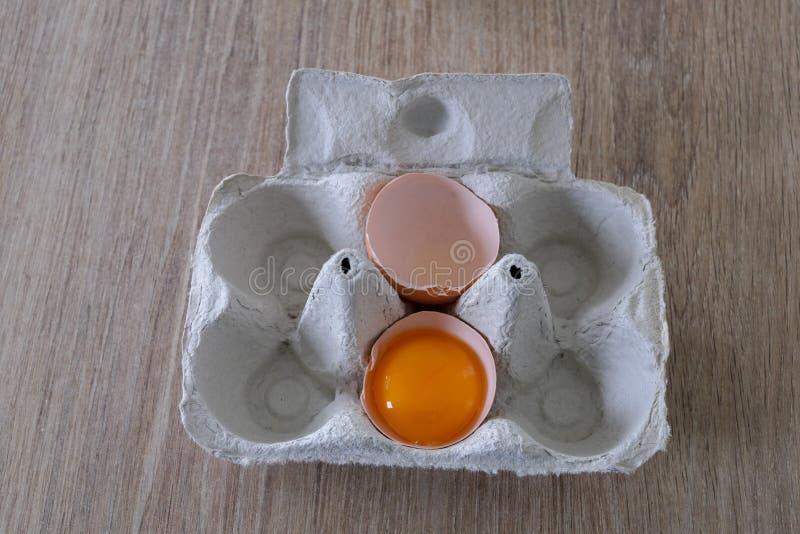 Φρέσκα αυγά από μια τοπική παραγωγή στοκ εικόνες
