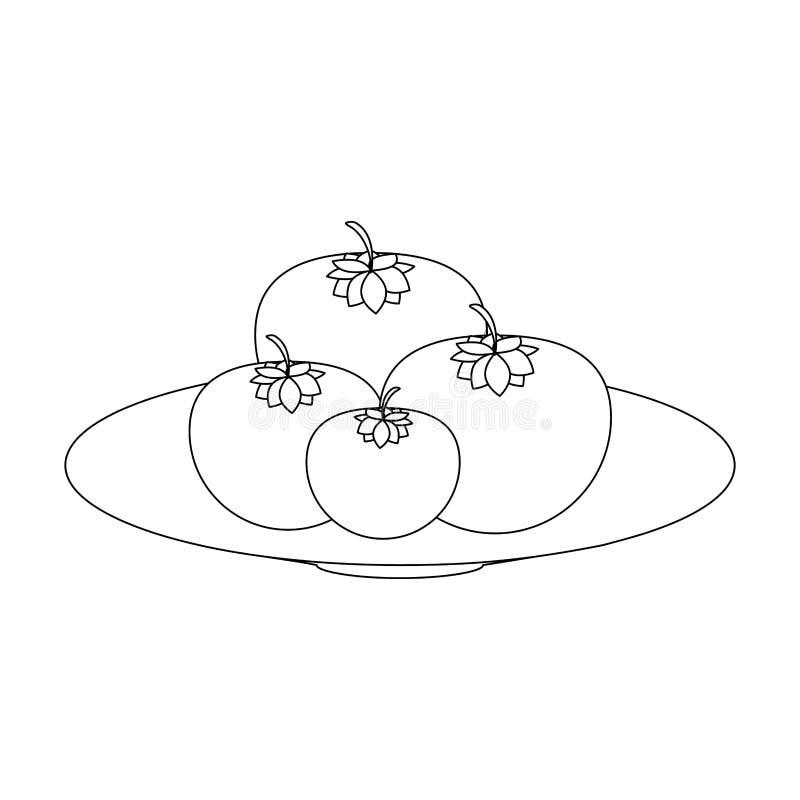 Φρέσκα λαχανικά ντοματών διανυσματική απεικόνιση