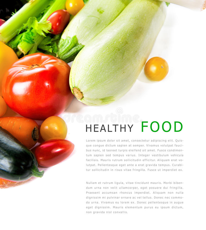 Download Φρέσκα λαχανικά που απομονώνονται στην άσπρη ανασκόπηση Με τη θέση για το α Στοκ Εικόνα - εικόνα από τρόφιμα, ανασκόπησης: 62724395