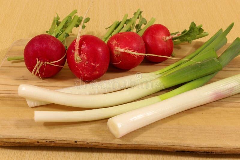 Φρέσκα κρεμμύδια και ραδίκια άνοιξη στοκ φωτογραφία με δικαίωμα ελεύθερης χρήσης