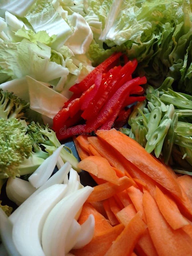 Φρέσκα λαχανικά για ένα Yakisoba στοκ φωτογραφία