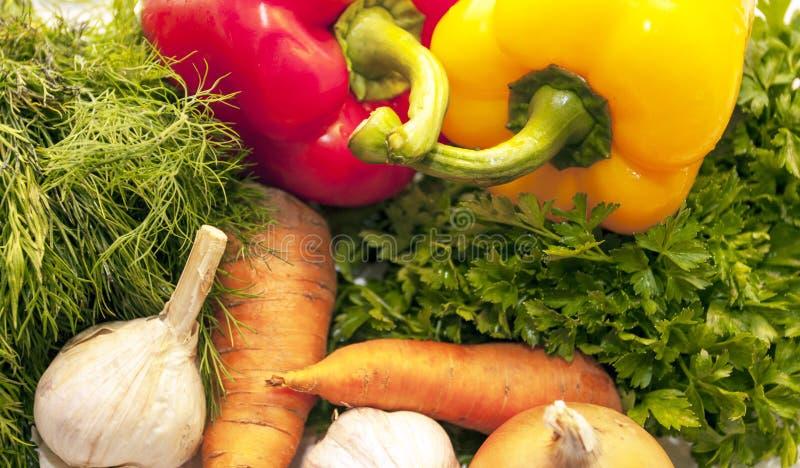 Φρέσκα λαχανικά και πράσινα στοκ φωτογραφίες